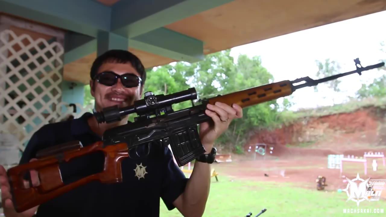 【日本壕界大叔】 实弹射击 试着射击了Dragunov狙击手步枪!