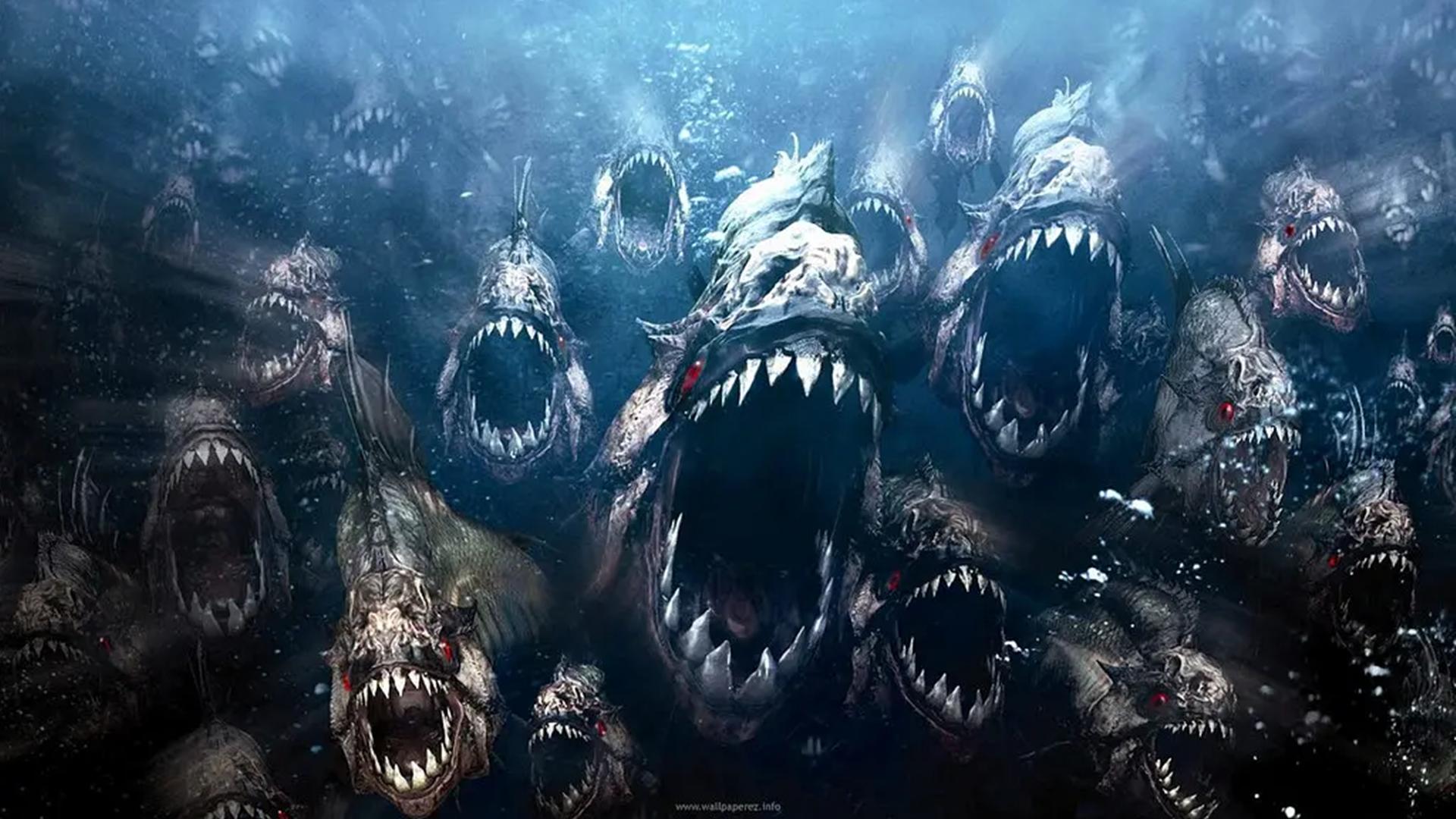 科幻大片:远古食人鱼入侵,疯狂繁衍后代,沿海城市瞬间崩塌!