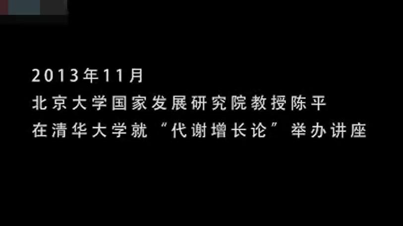 [陈平说][听陈平讲经济学 - 代谢增长论][201311]