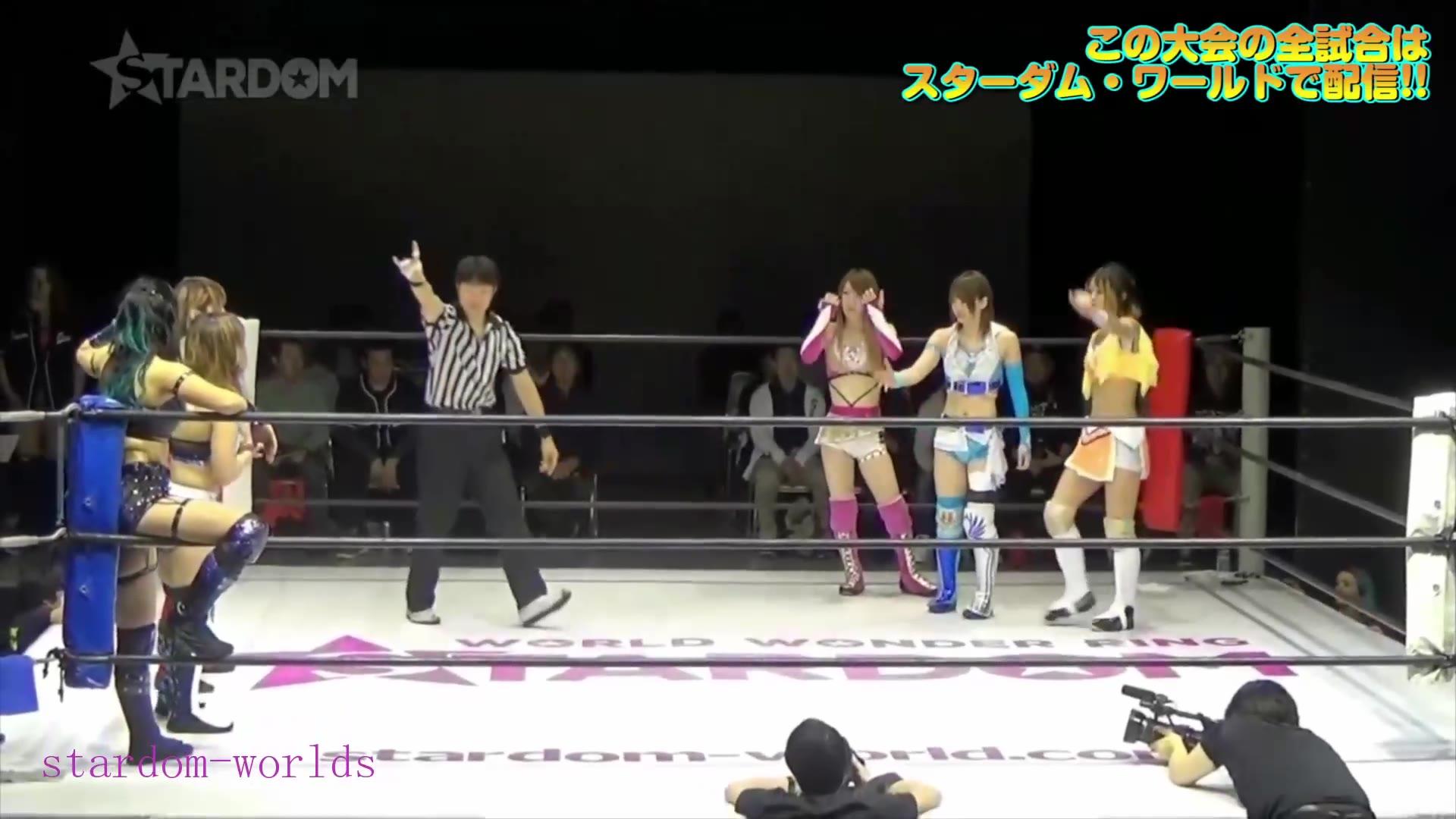 日本女子摔角Stardom-2019.3.21岩谷麻優,星輝ありさ,鹿島沙希vs渡辺桃,林下詩美,.