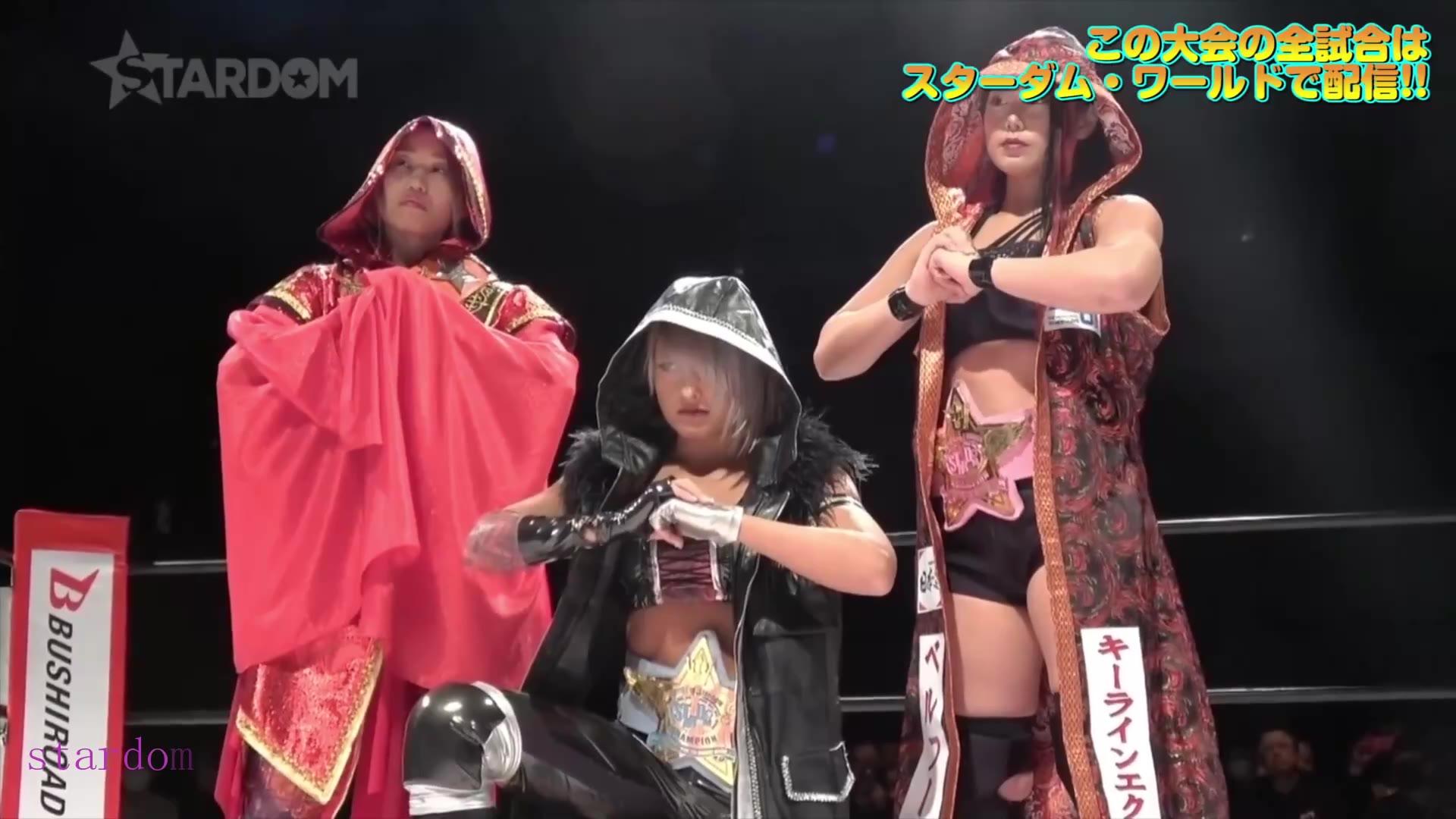 日本女子摔跤Stardom-2020.2.15 里歩,中野たむ,飯田沙耶 vs ジュリア,舞華,朱里