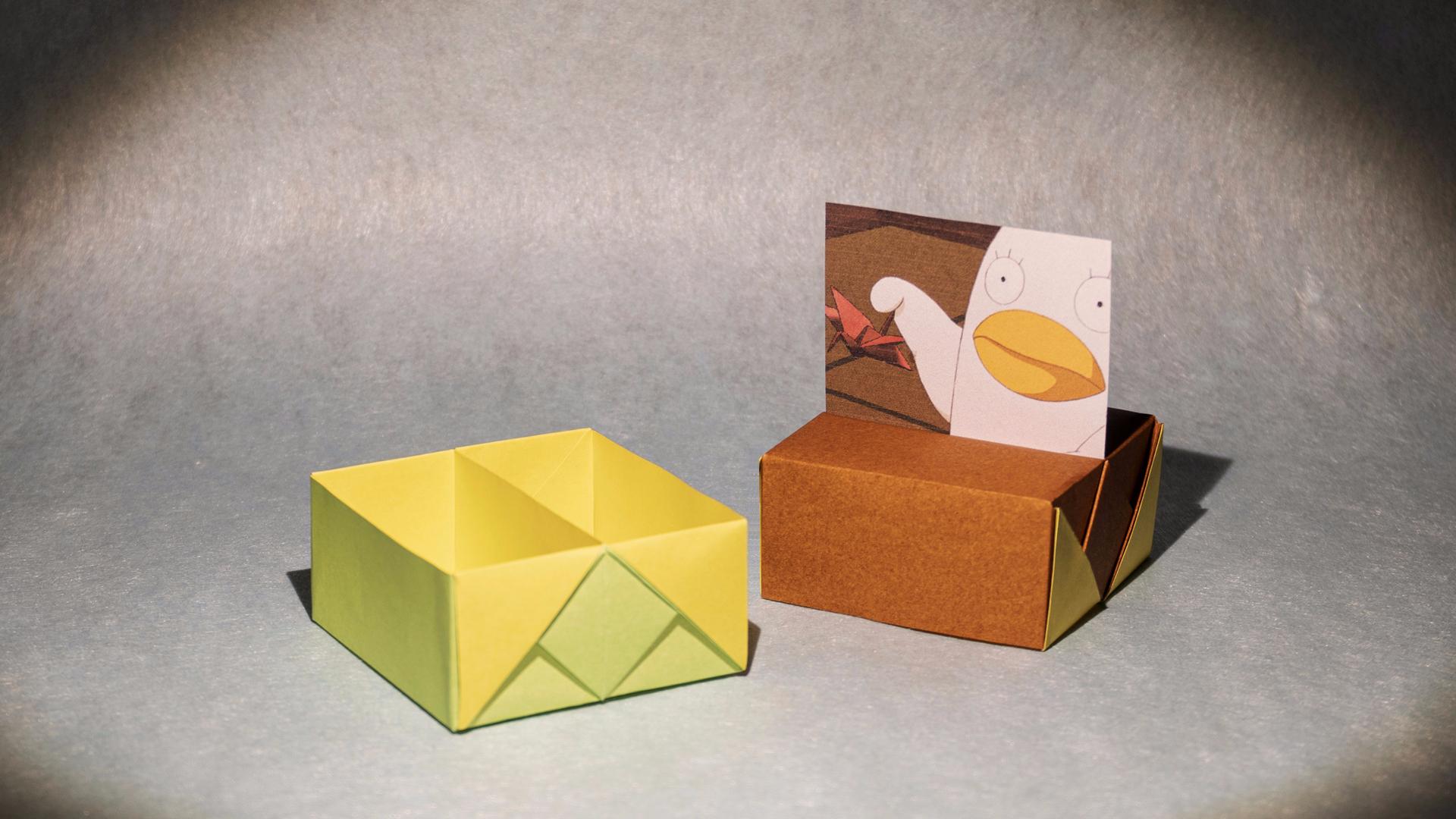 简单实用折纸盒子,带分隔,还另有妙用