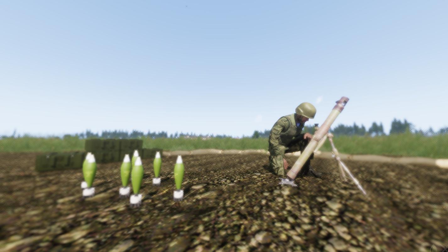 《武装突袭3》2B14迫击炮打靶