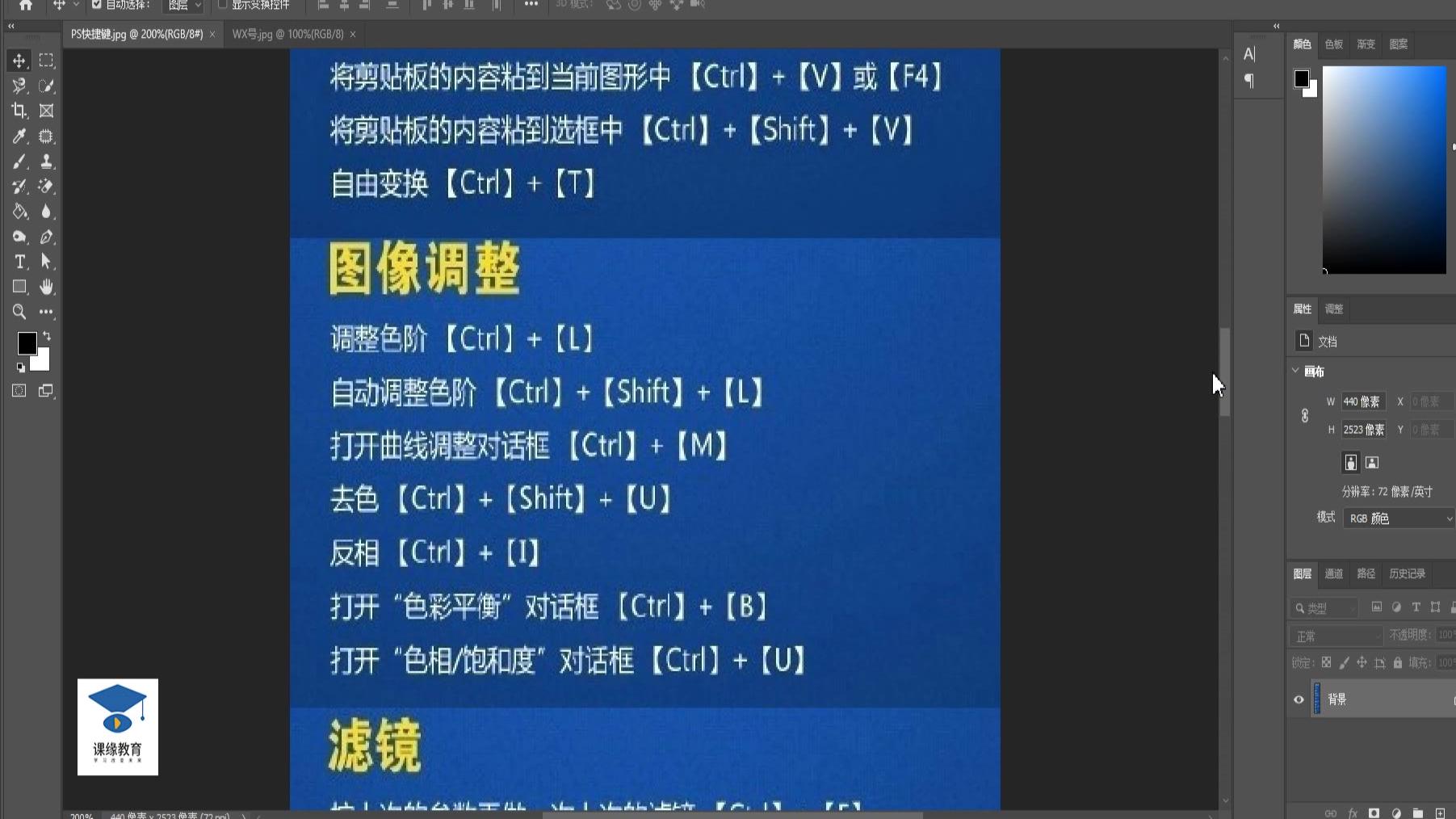 淘宝美工教程:ps快捷键讲解 PS教程 PS入门教程