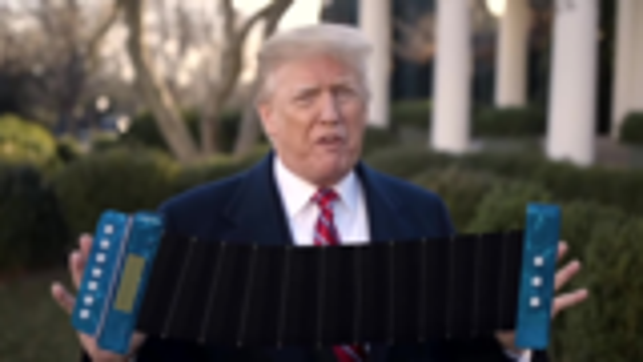 川普!一个被当总统耽误的手风琴家!