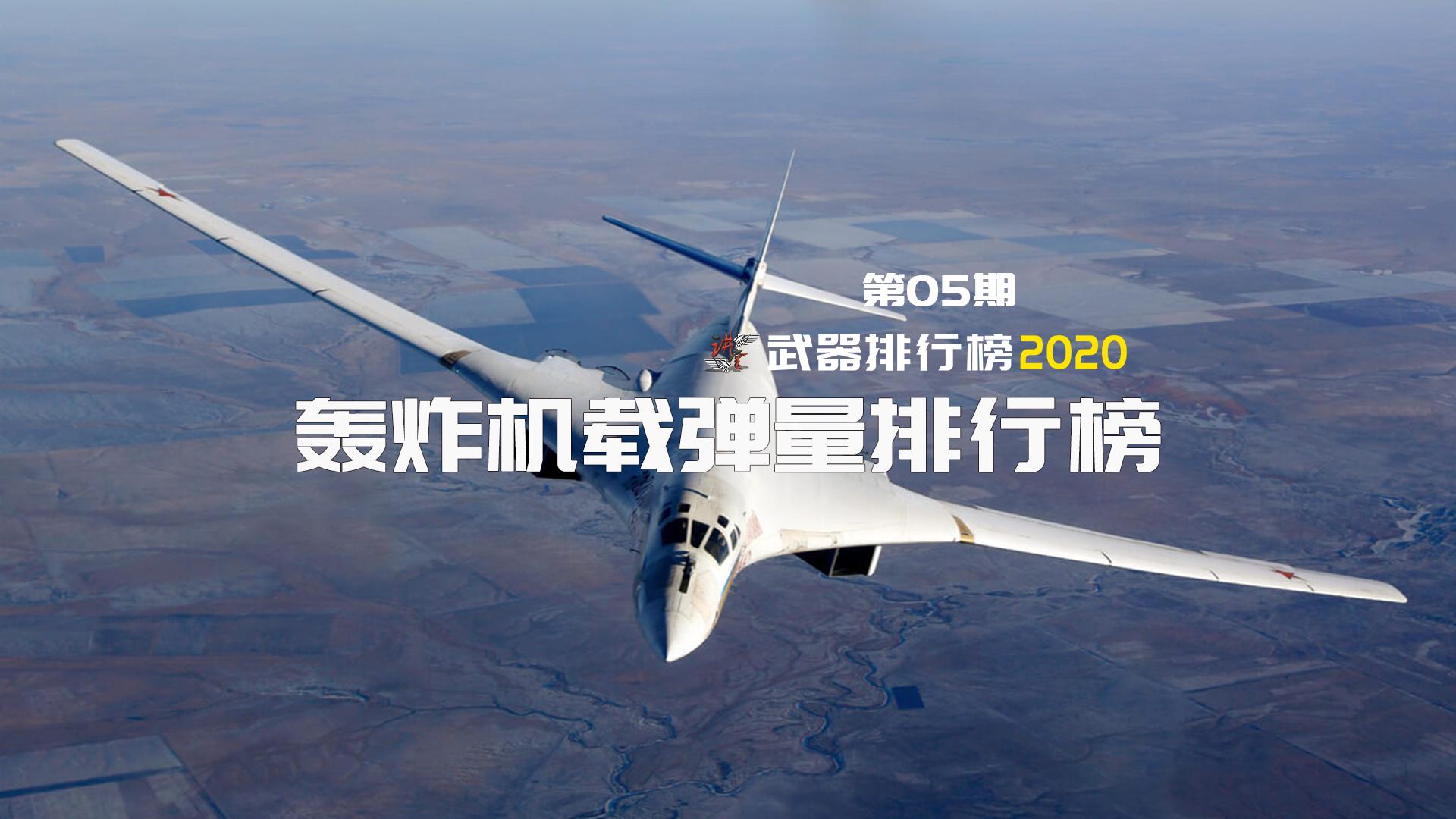 【武器排行榜2020】人类历史上载弹量最大的五款轰炸机,苏联的Tu-160白天鹅太美了