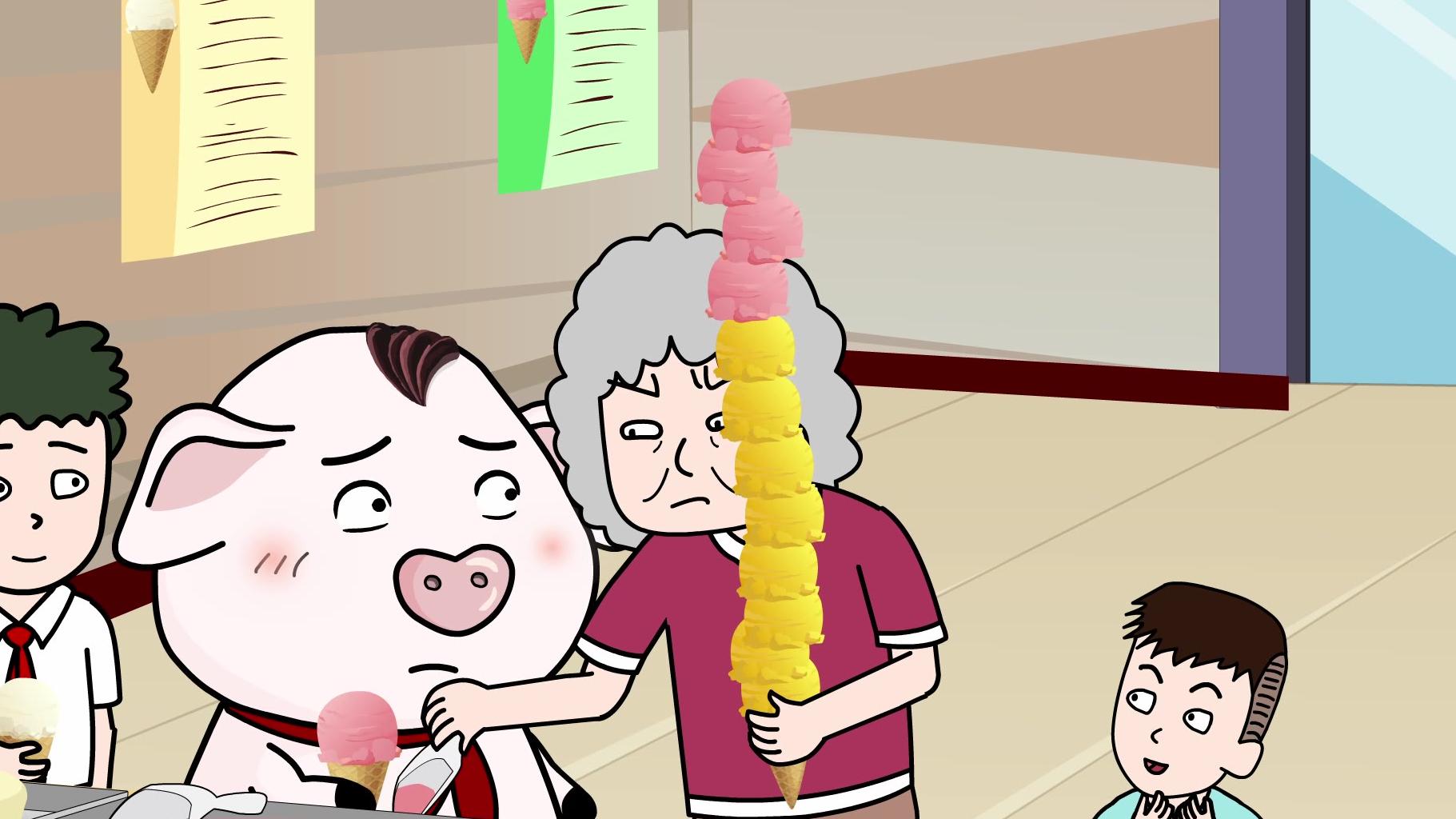 郝奶奶不听劝,非要挑战网红冰淇淋!结局惊呆屁登与众人