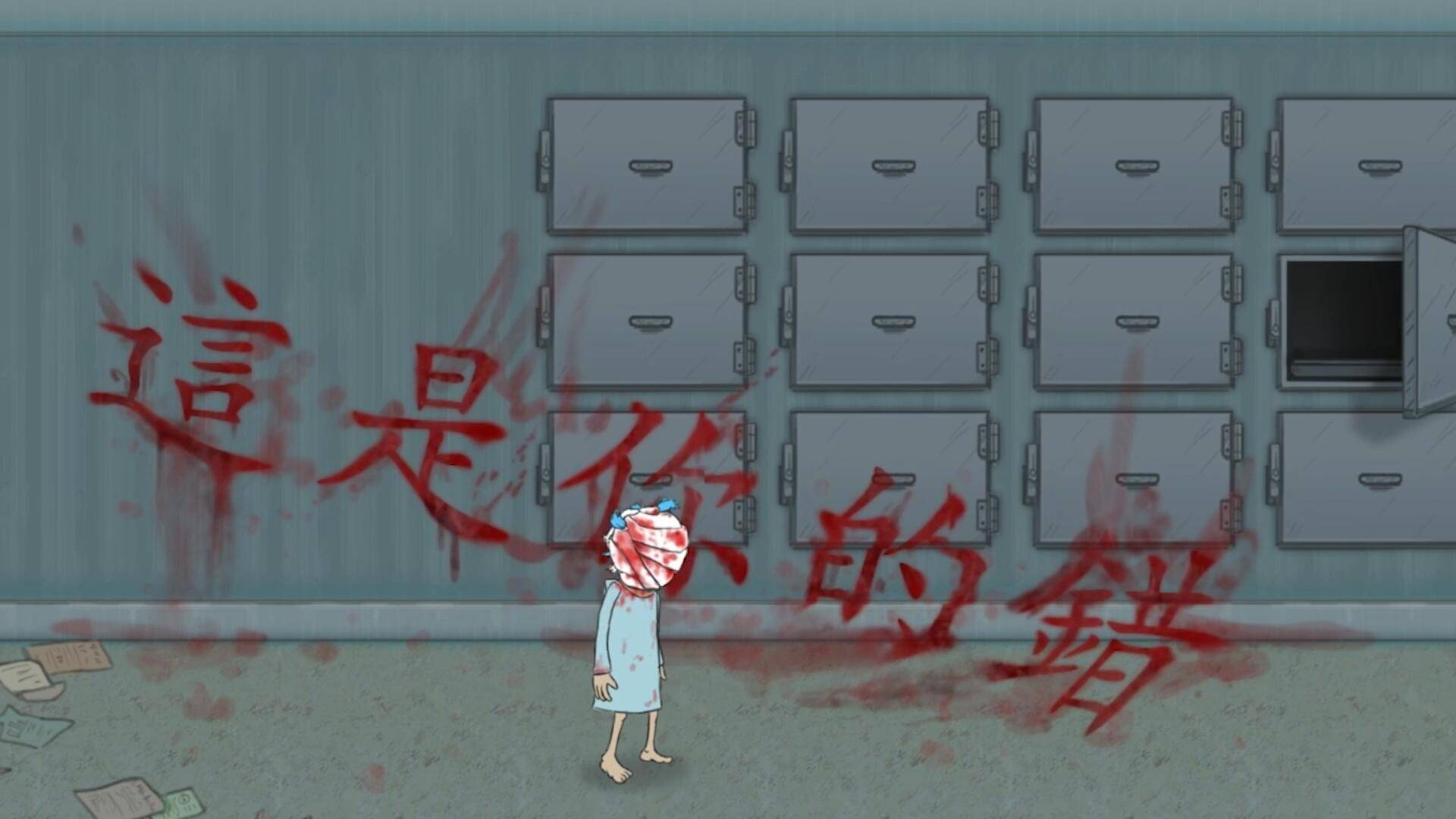 萨莉脸序章:小女孩深夜爬进母亲墓穴,里面有一个停尸房?!