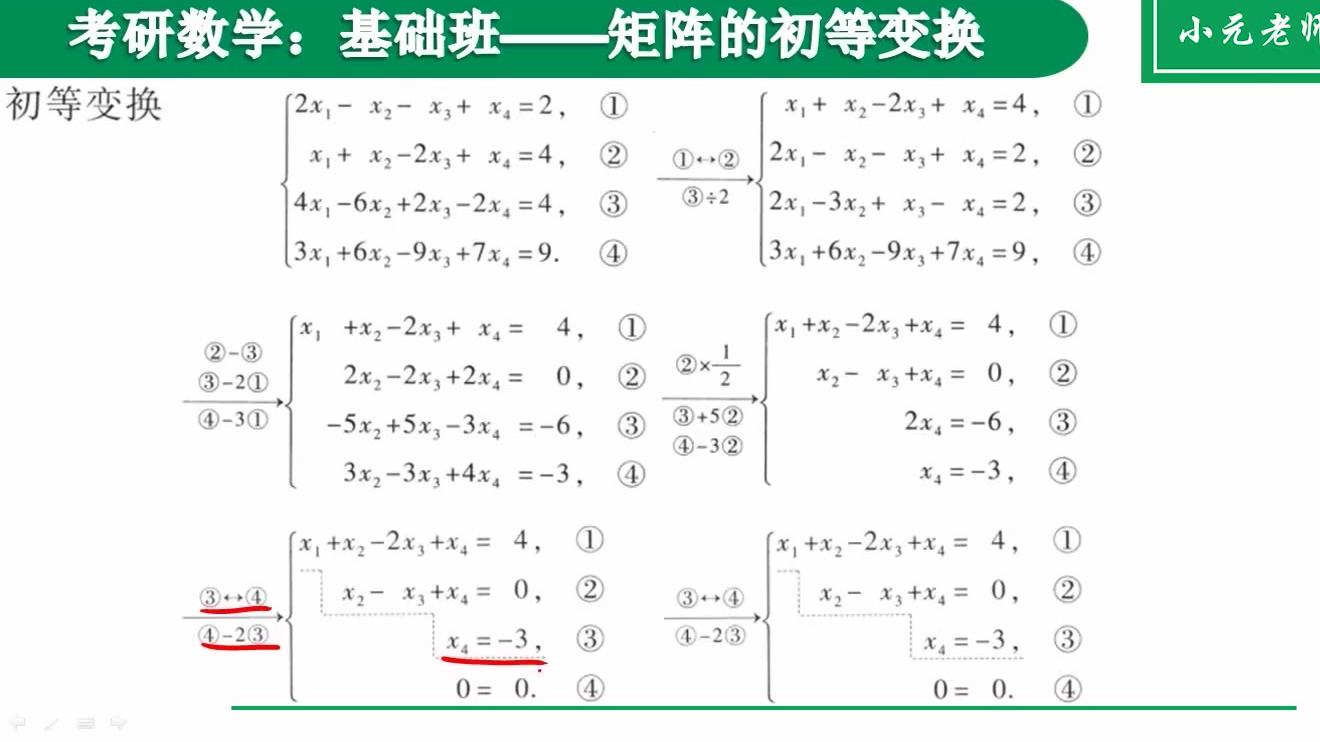 8.矩阵的初等变换【小元老师】