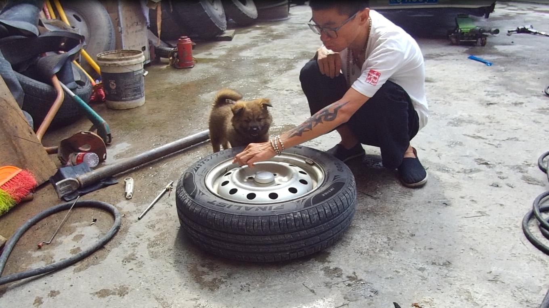 面包车环华自驾游,在重庆山区车胎漏气,小伙急坏了