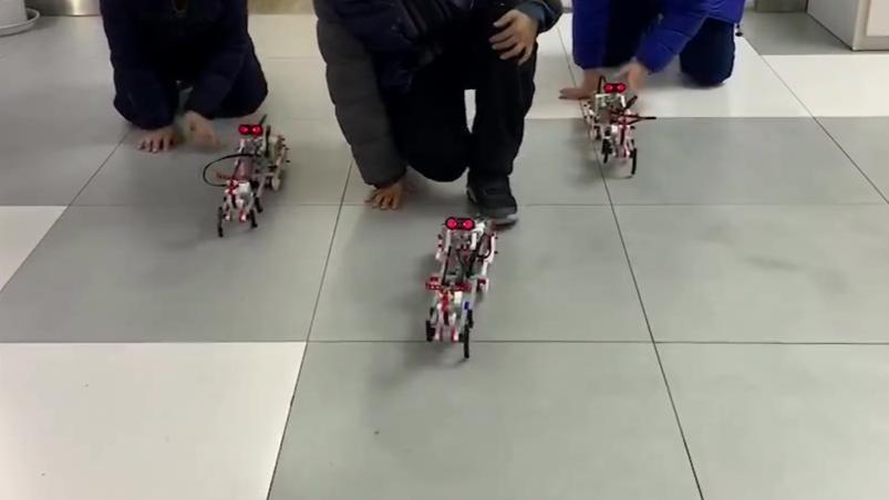 童程童美学员作品展示:乐高EV3智能创意编程-麋鹿