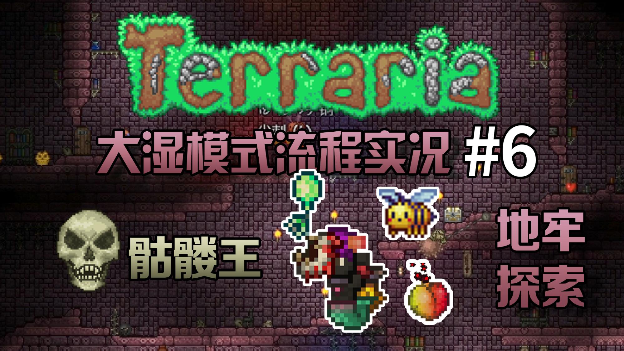 【丁菊长】骷髅王!探索地牢~!【泰拉瑞亚 terraria】1.4大师模式流程实况解说第6期