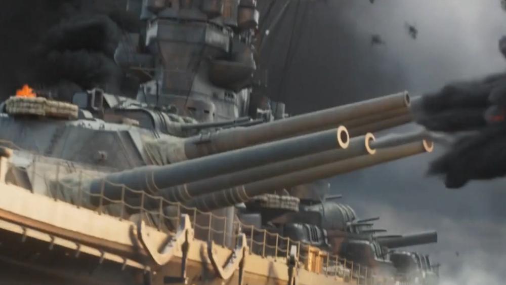 【战争影视合集】大舰巨炮震天响!美日战列舰五大开炮场面!