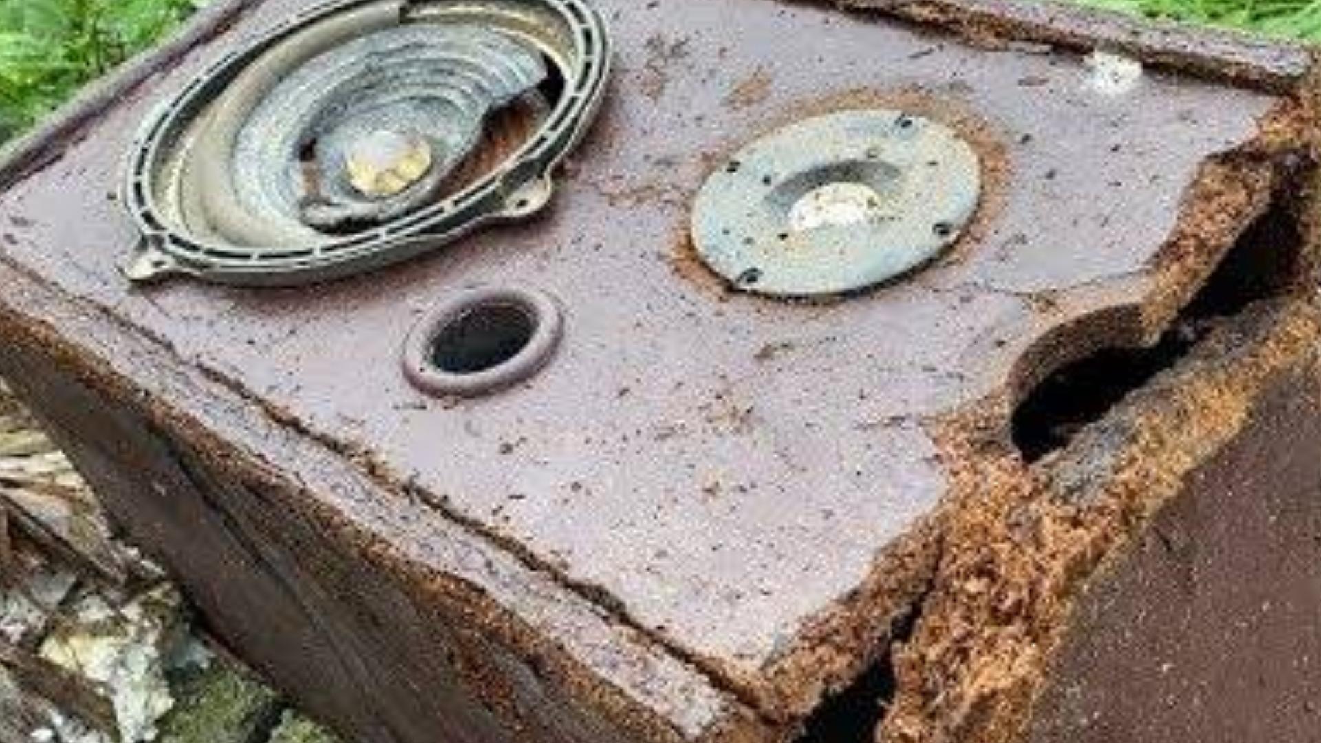 恢复旧古董先锋音箱 - 音箱抛弃旧的修复破碎