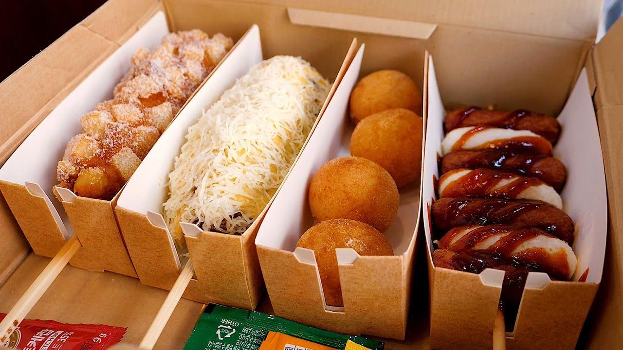 史上受欢迎的韩国奶酪热狗组合,韩国街头小吃!