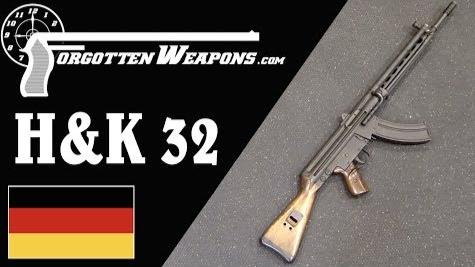 【被遗忘的武器/双语】H&K的7.62x39mm G3步枪--HK32原型