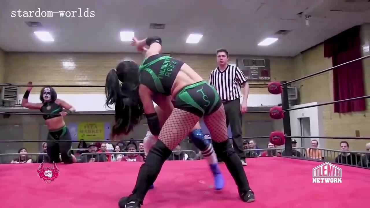 女子摔跤-Thunder Rosa,Holidead vs Sea Stars