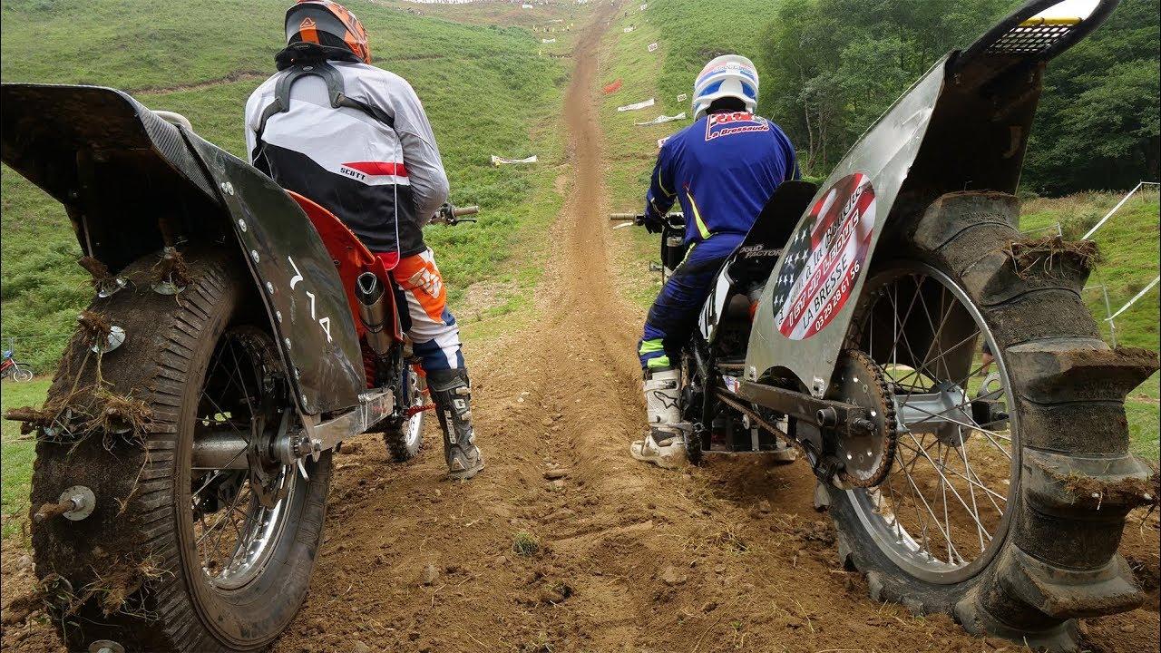 摩托车爬坡锦标赛,人仰车翻,场面壮观,无人可登顶,最高者获胜!