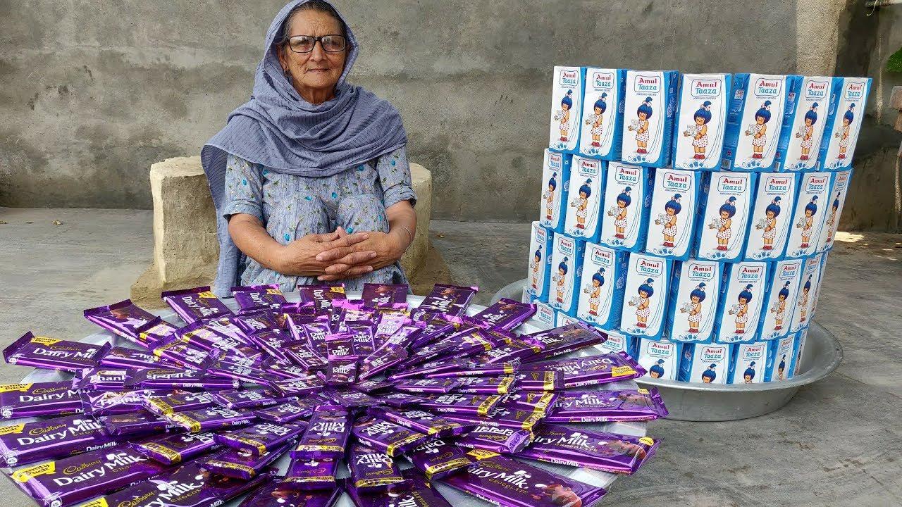 印度巧克力奶昔是这样做出来的!太诱人了!印度特有的奶昔你喝过吗?