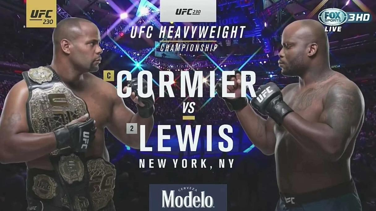 UFC230台湾解说  主赛: DC黑球 vs 黑色野兽Lewis