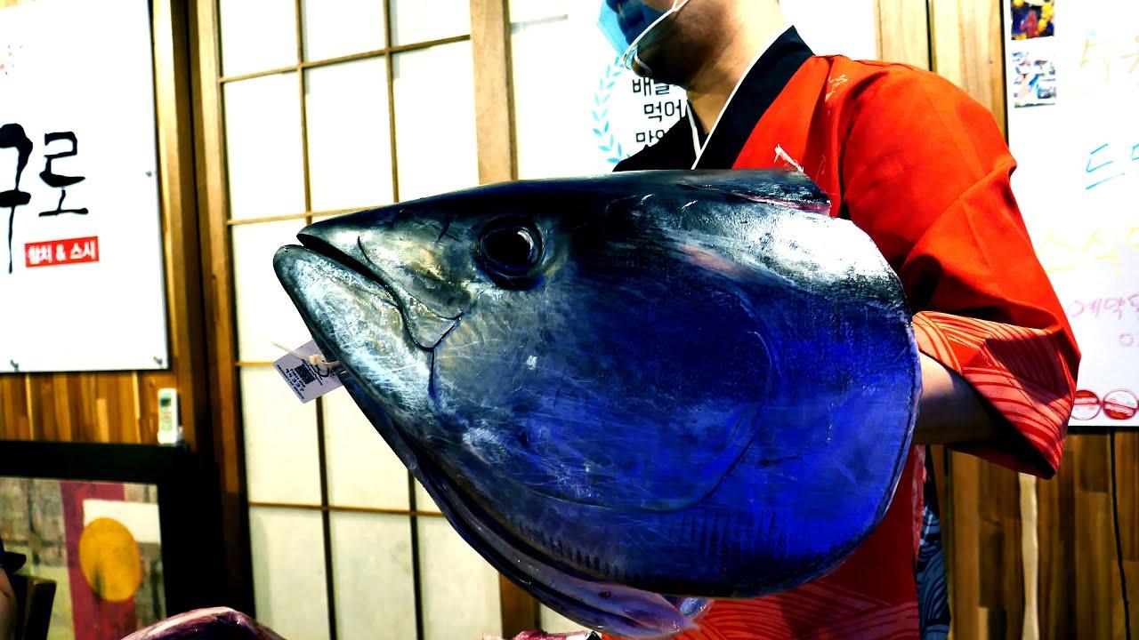 金枪鱼身上最贵的一块肉,真的好想去试一下,看着都过瘾!