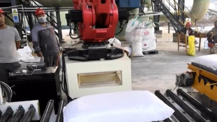 氧化铝粉包装码垛生产线、自动包装码垛生产线