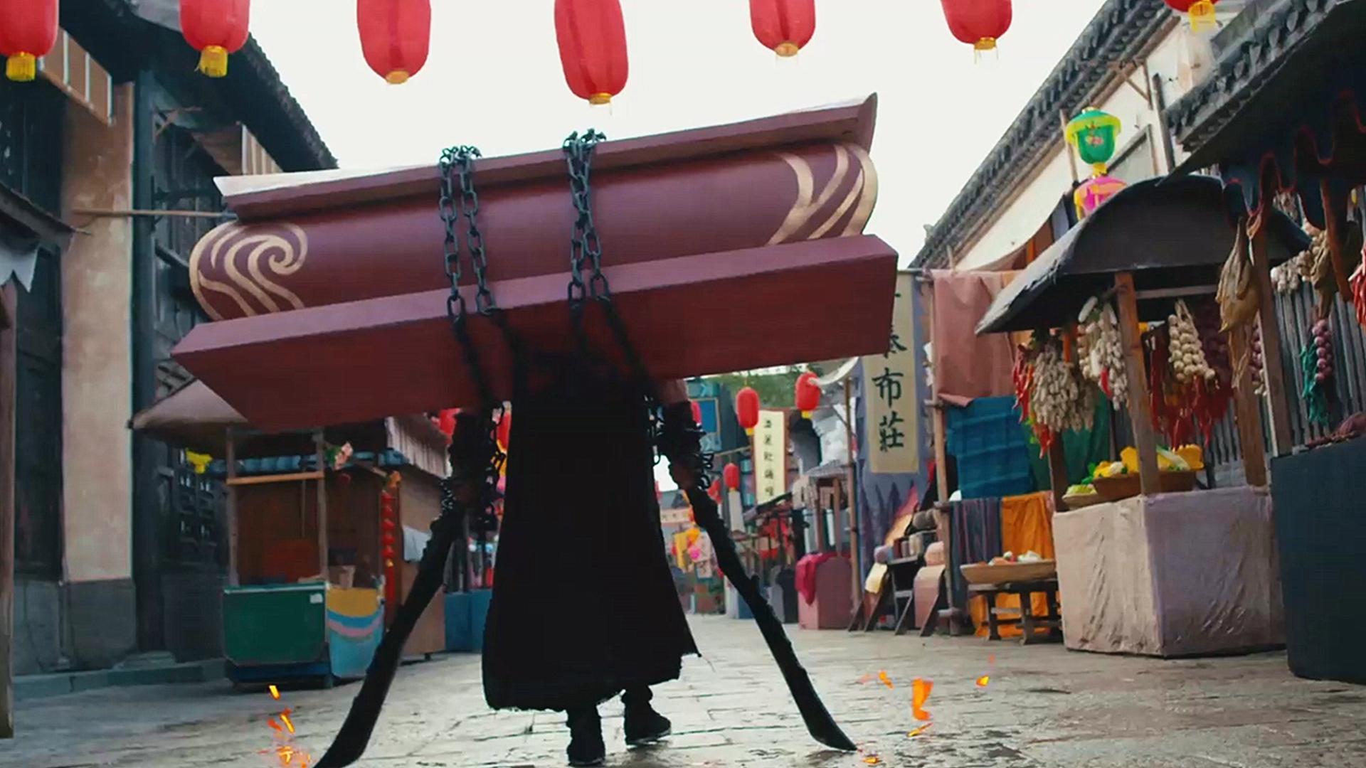 杀手背着棺材行走江湖,只为让亡妻再度复活,一部武侠爱情电影