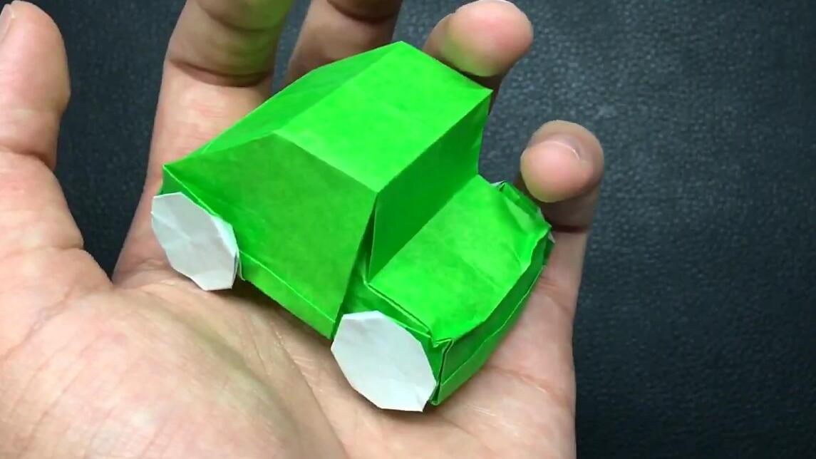 """教你折纸""""旋转小汽车"""",解压又好玩的折纸玩具,考试前用它放松一下!"""