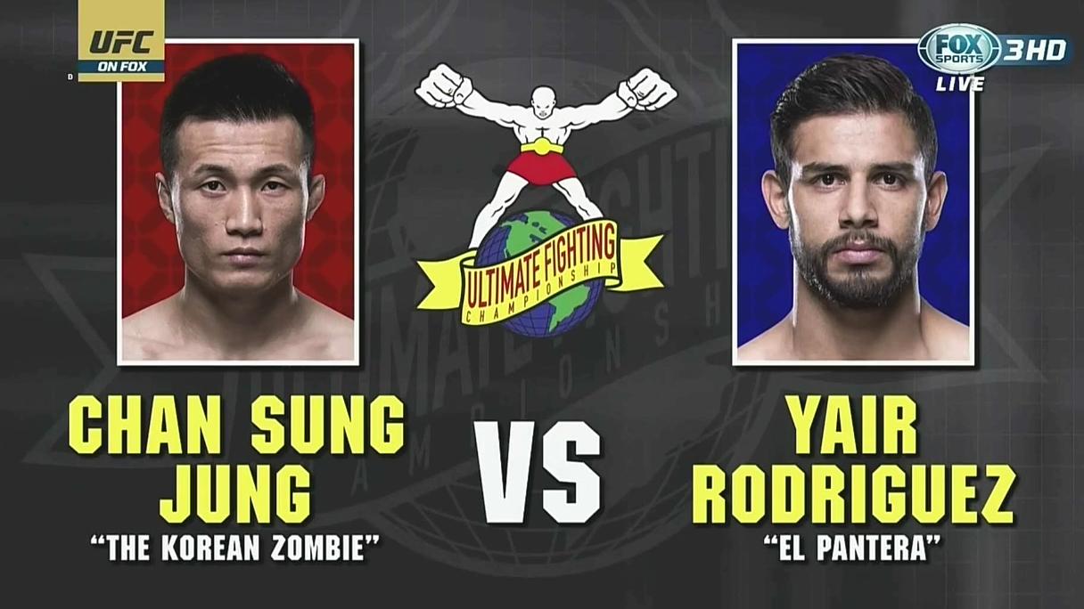 UFC Fight Night139 台湾解说  韩国僵尸 VS Yair Rodriguez