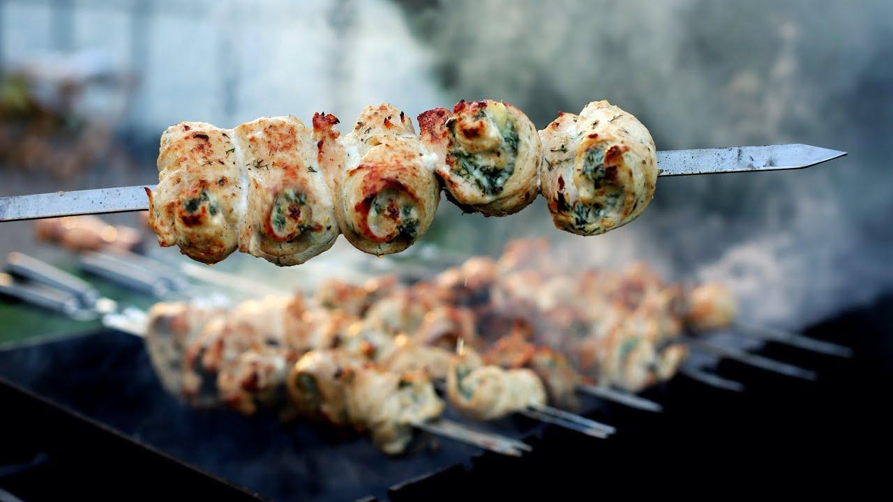 鸡肉串这样烤太香了,边烤边吃,跟外面卖的一样,做法却很简单!