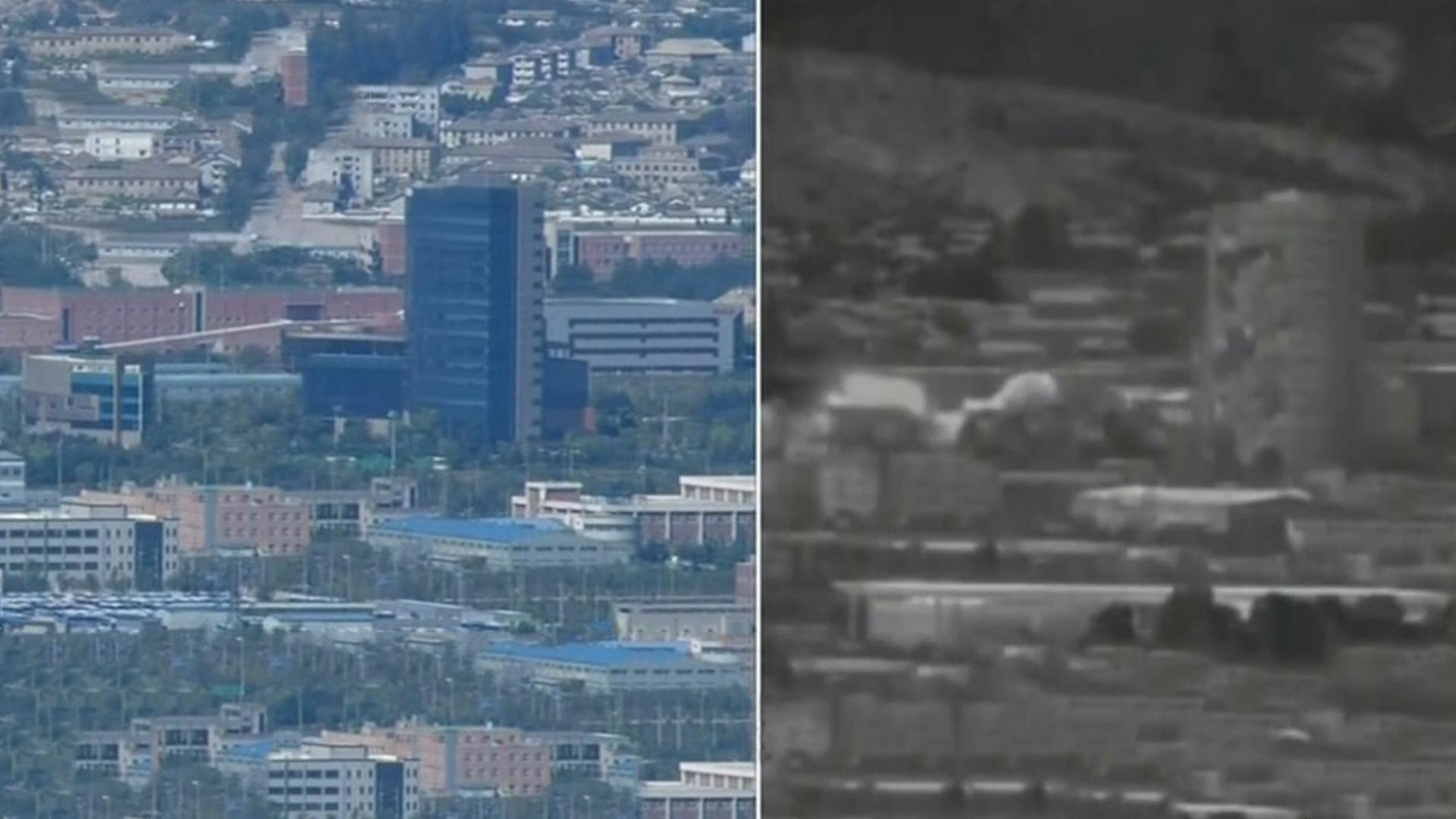 朝鲜炸楼,韩国怎么应对?青瓦台、统一部、国防部、外交部都有说法