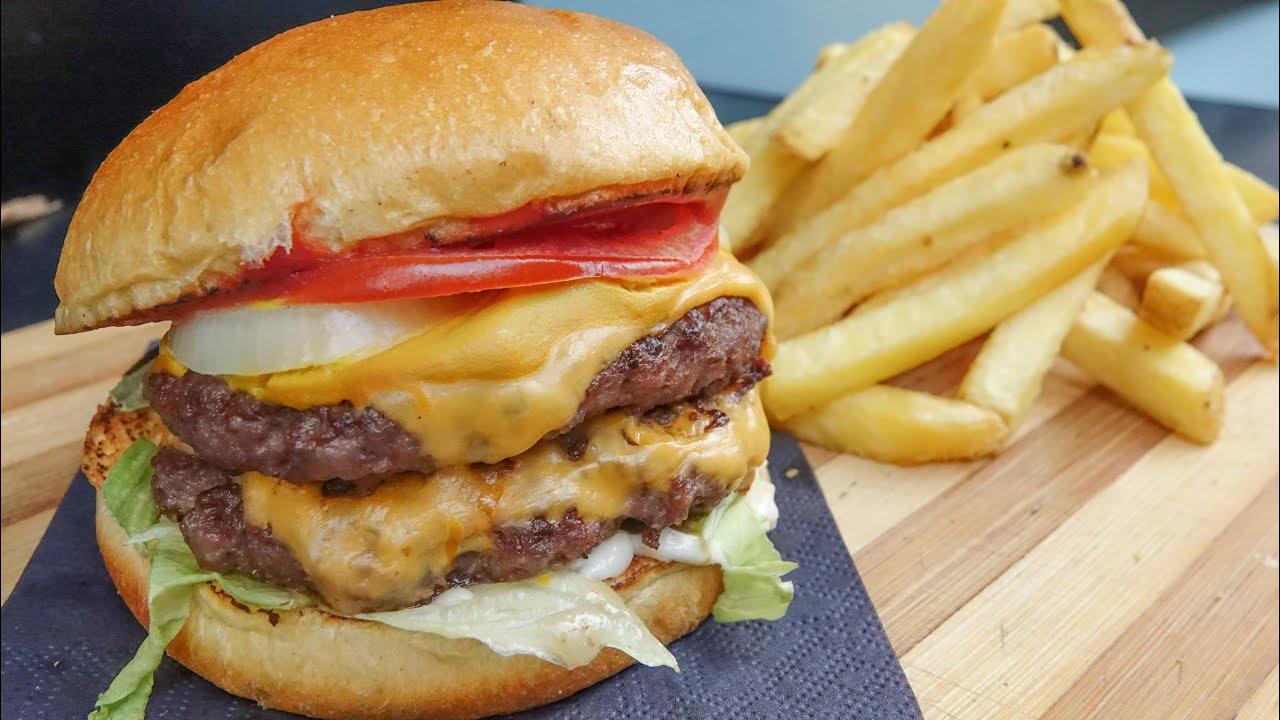 伦敦街头美食牛肉汉堡,肉多料足,一个就吃到扶墙走!