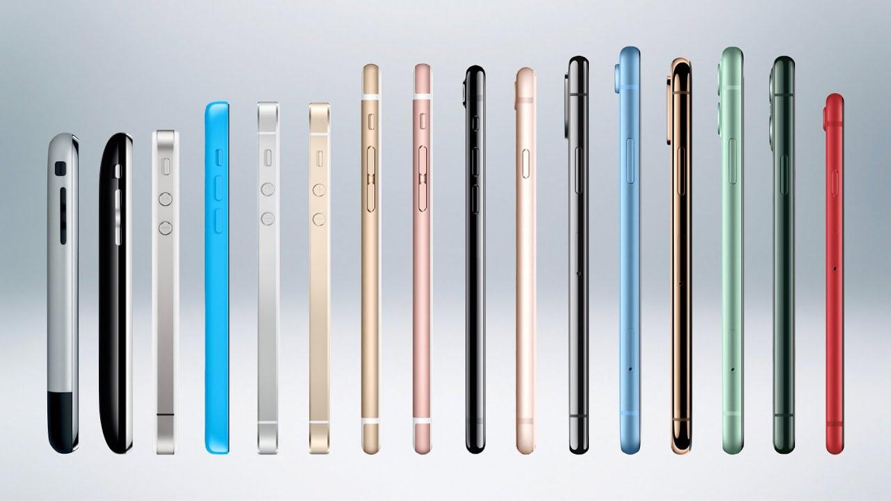 iPhone历代手机展示,看看你用过几款?