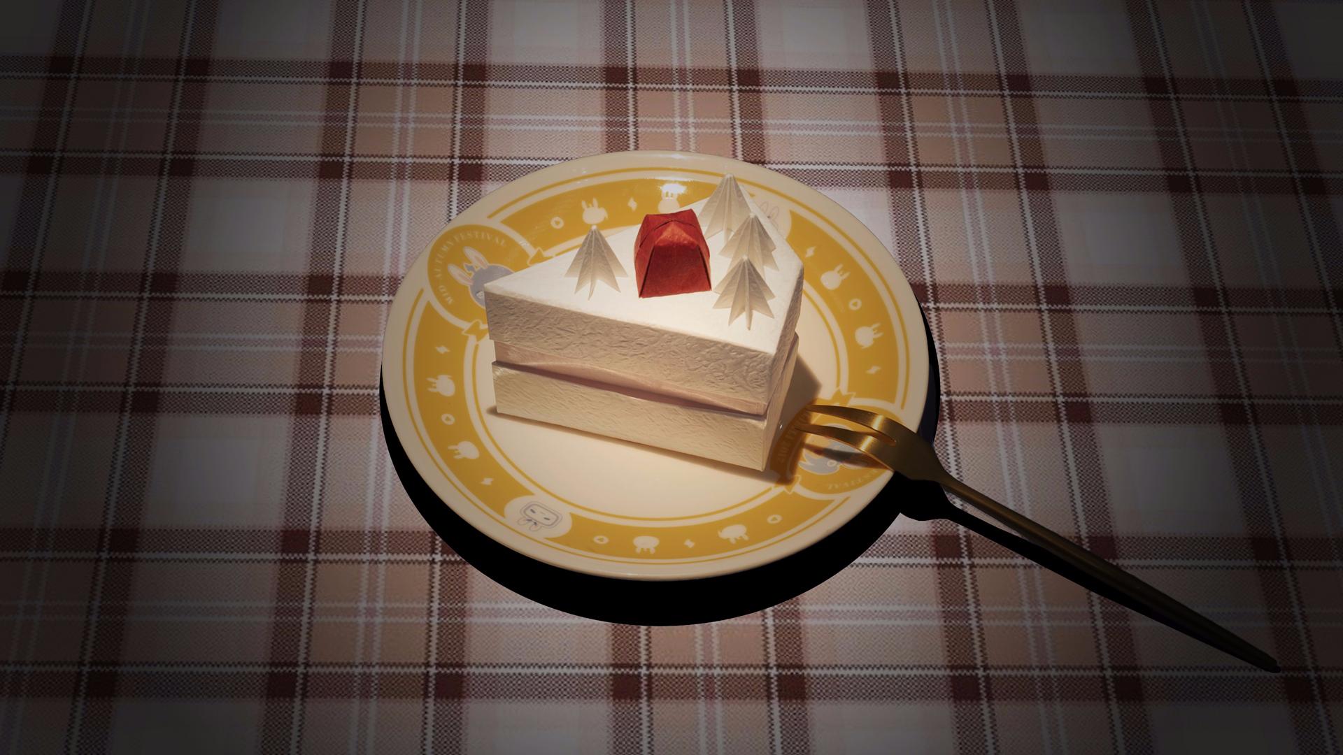 跟着一起做吧,用纸折出庆生草莓蛋糕