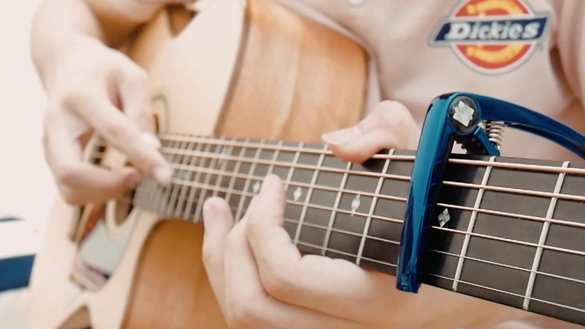 【指弹吉他改编】一秒泛音沦陷,《说好不哭》-周杰伦