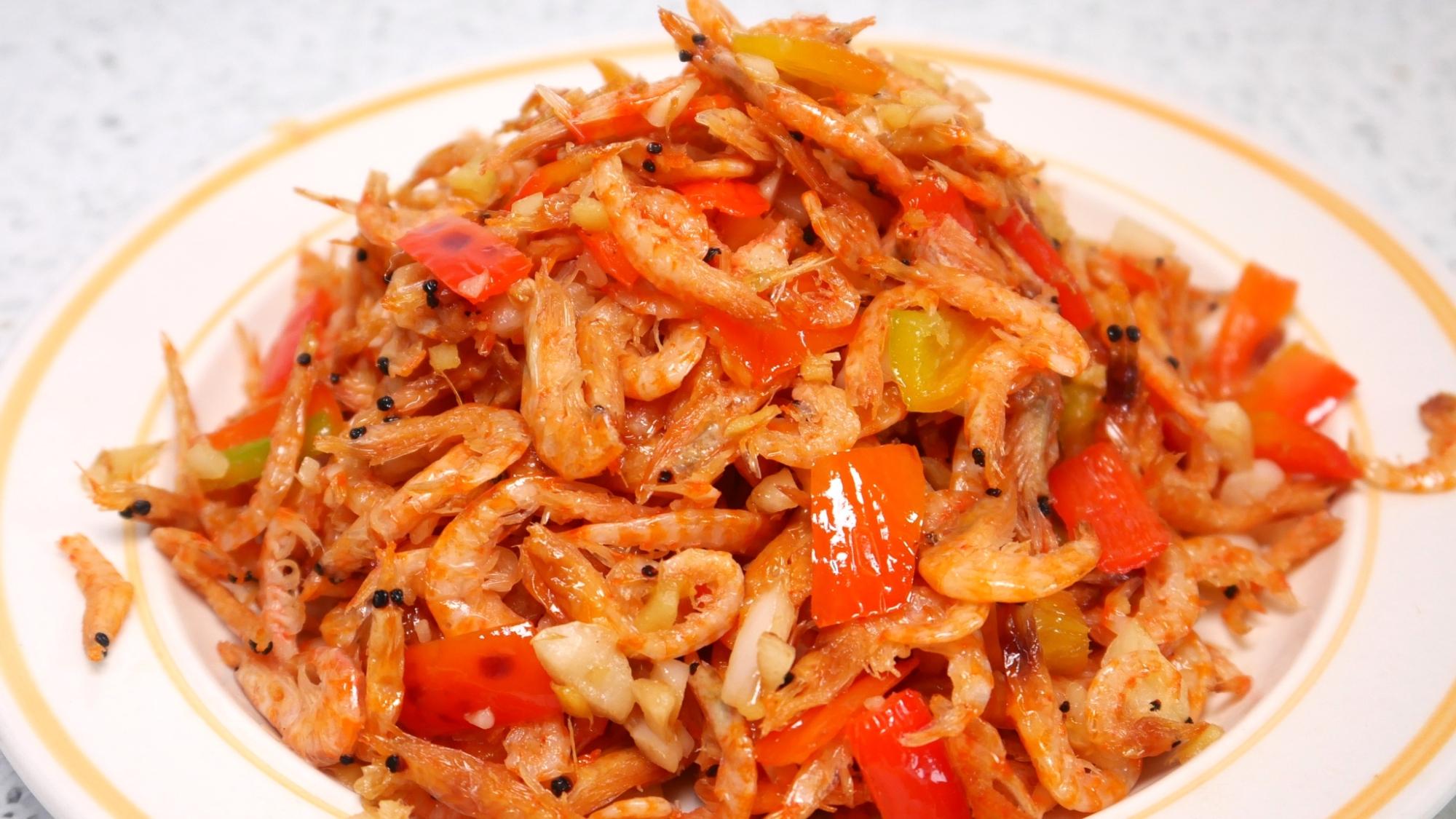 虾皮原来还可以这样吃,实在是太香了,一次我能多吃三碗饭