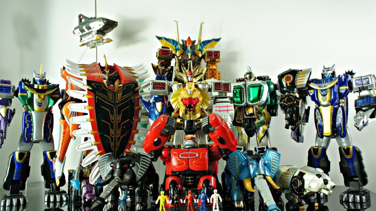 【DH】百兽战队 DX  全合体  机器人