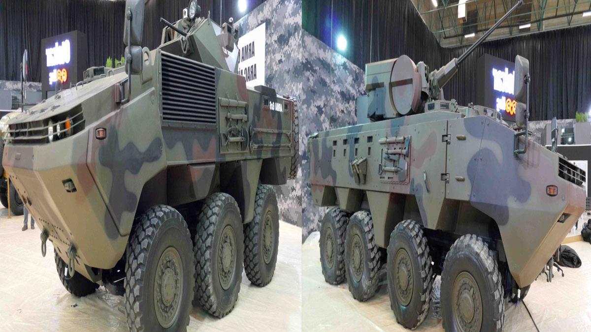 土耳其Otokar Arma 6x6/8x8轮式装甲运兵车展示视频。
