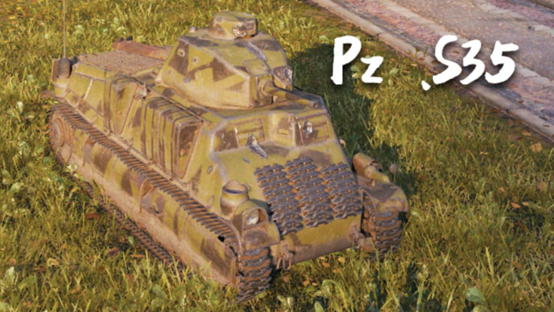 【坦克世界】Pz .S35:12杀 - 2千9输出(1v7翻盘),短小精干(锡城)
