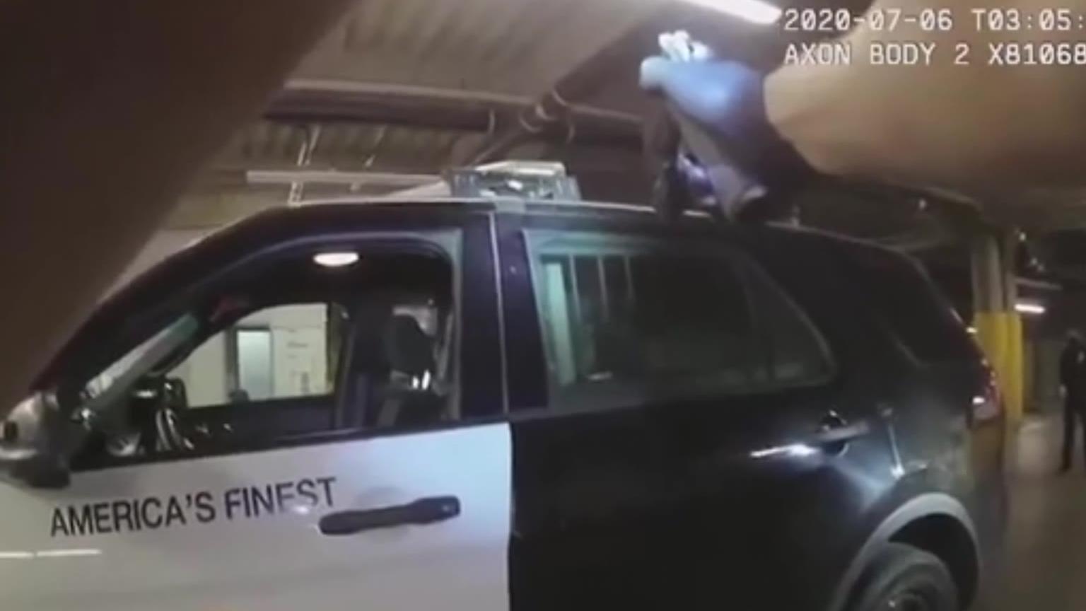 【警察执法实录】警局地下车库的火拼