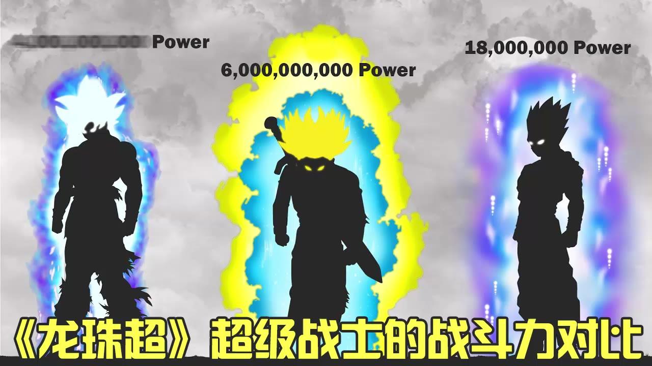 《龙珠超》所有超级战士的战斗力对比!