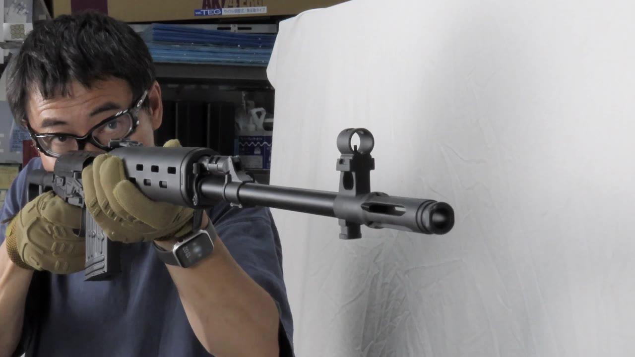 【日本壕界大叔】SVD狙击枪皇冠气动力 射击 测评!