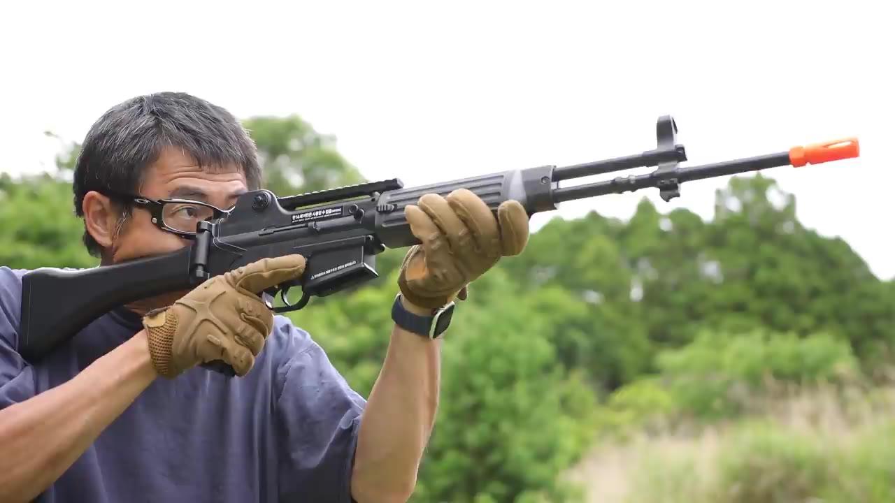 【日本壕界大叔】K2  韩国军队的主力步枪电动力 射击 测评!