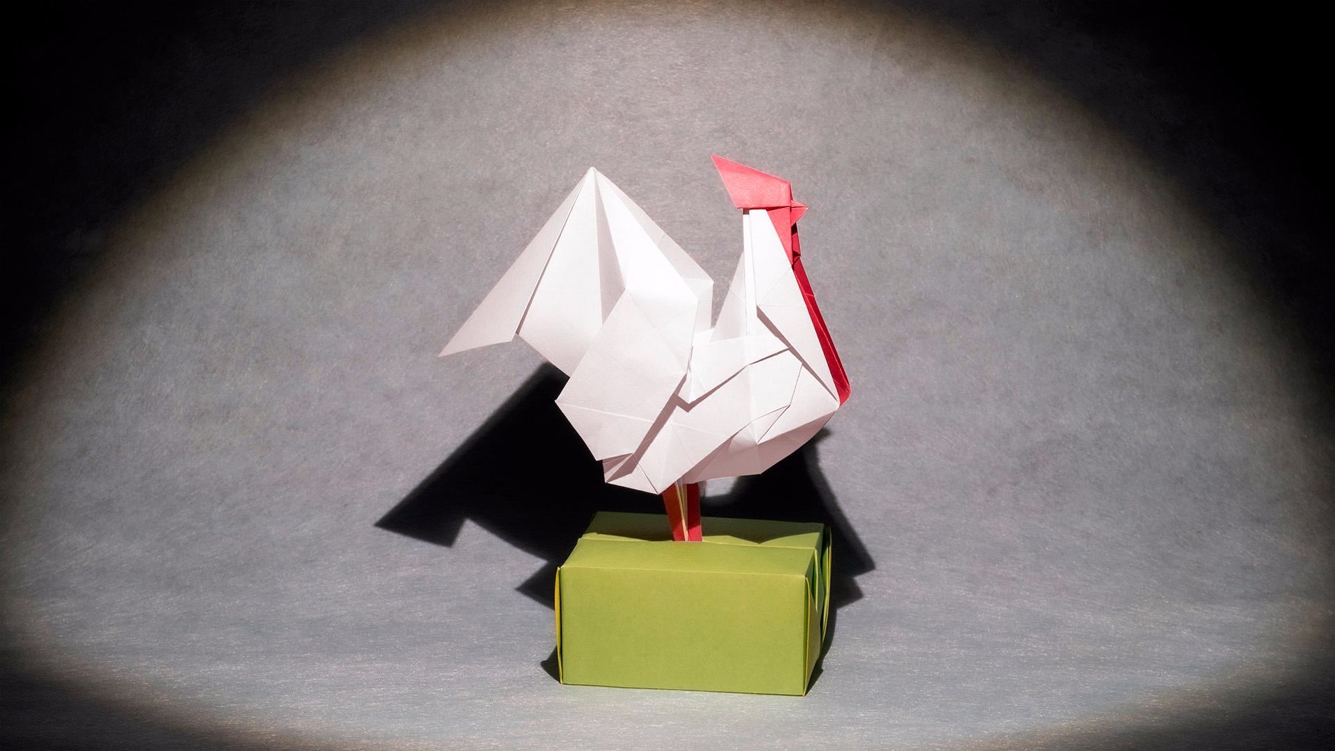 【折纸-教程】纸飞机弱爆了,不会飞的鸡折起来才好玩