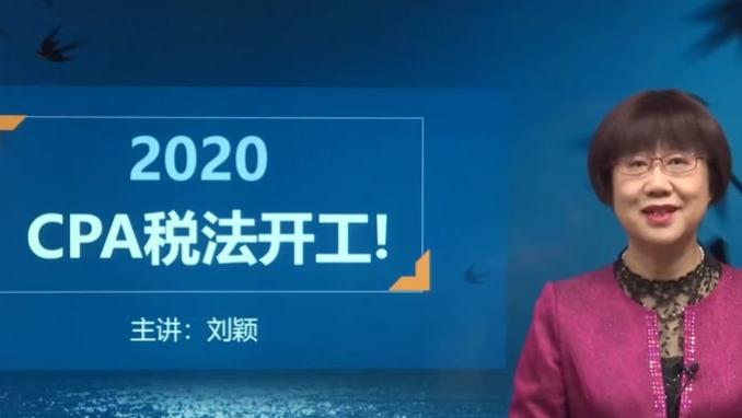 2020最新注会东奥税法刘颖 完整版