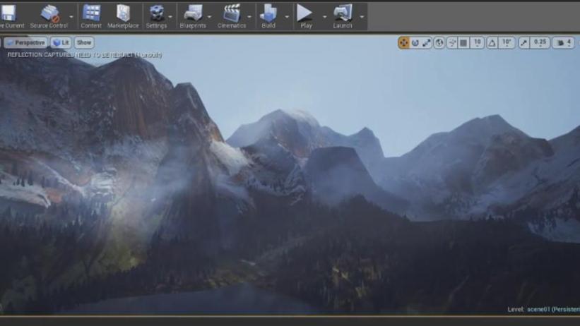 【UE4】虚幻引擎山地景观场景实例制作教程(中英双字)