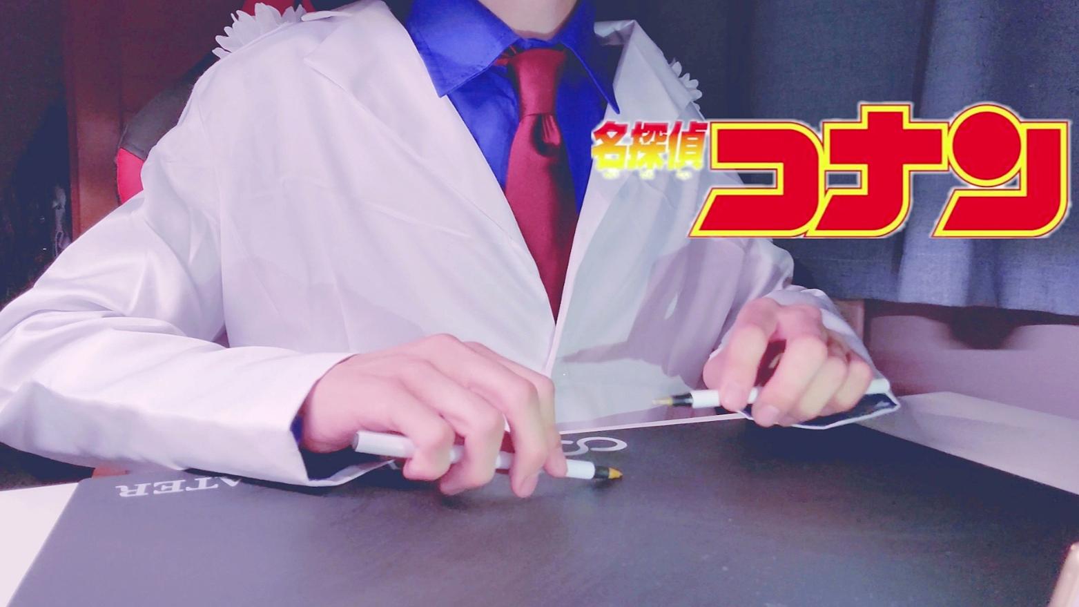 怪盗基德用两支笔演奏 名侦探柯南主题曲