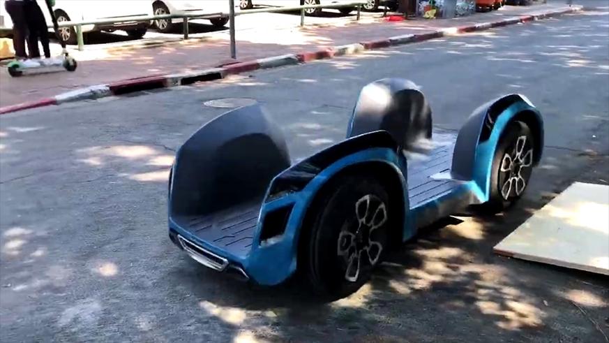 这个大滑板居然是汽车,3秒内就可破百,你猜怎么坐车