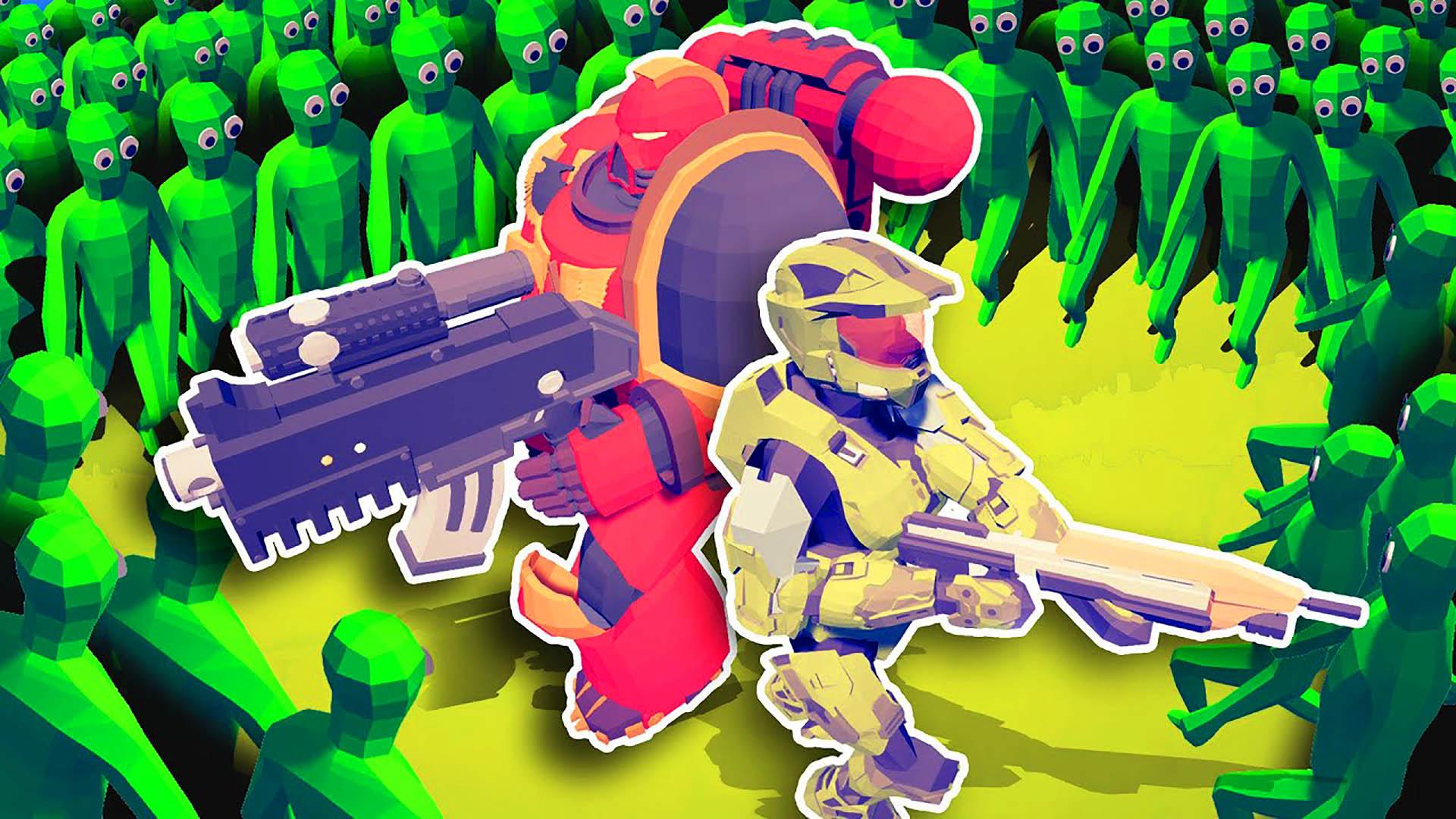 全面战争模拟器:星际战士和士官长联手对战僵尸大军!