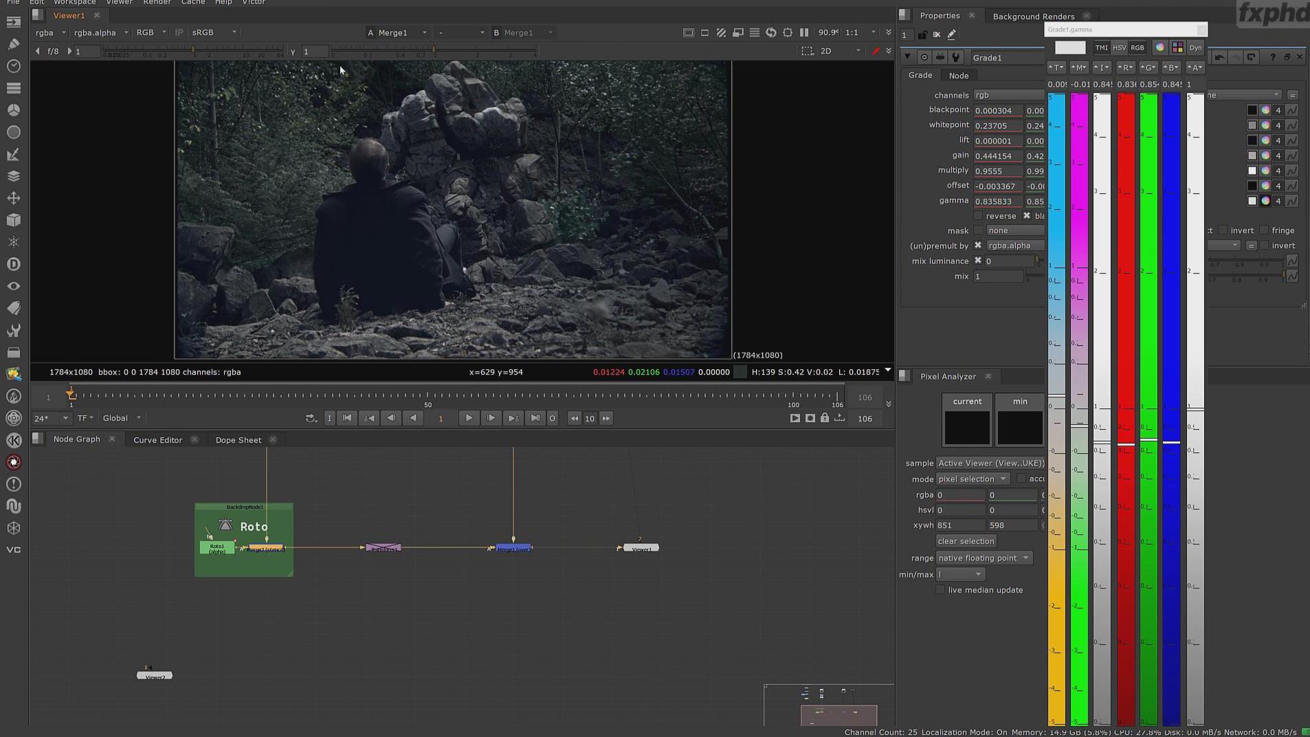 【Nuke】真实场景特效合成基础核心训练视频教程第二季(中英双字)